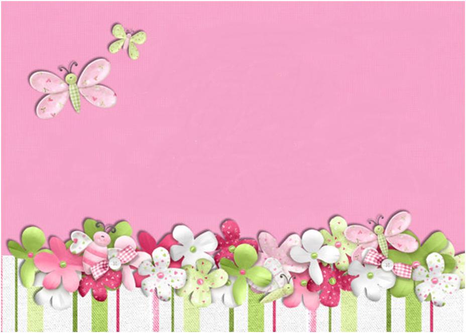 Pink plus butterflies baby shower invite background. | Baby Shower ...