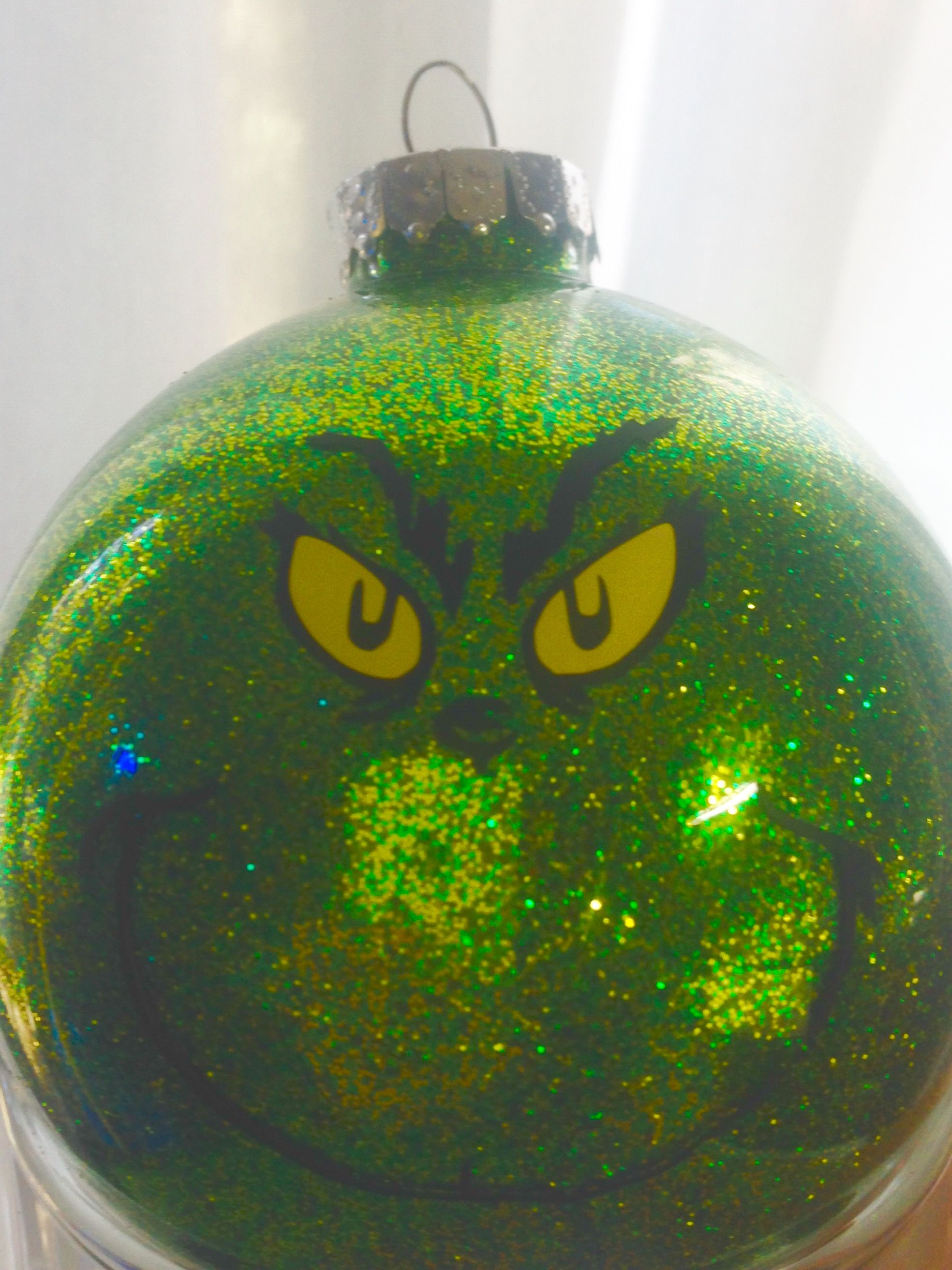 Grinch Ornament Michael S And Cricut Grinch Ornaments Christmas Bulbs Christmas Ornaments