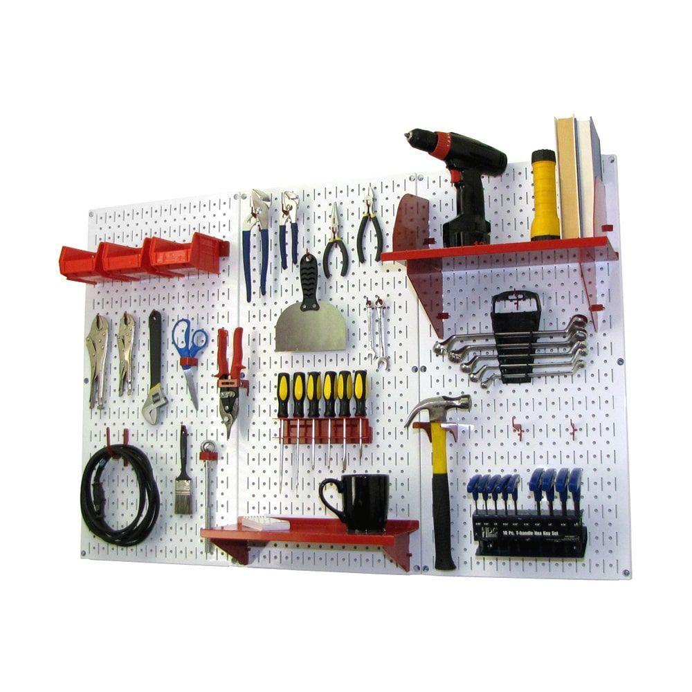 wall control 4ft metal pegboard standard tool storage kit on wall control id=80409