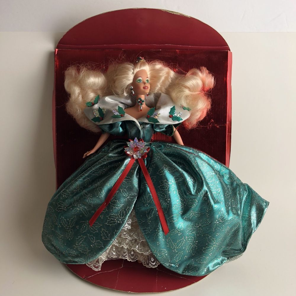 Vintage 1995 green holiday holly doll special limited edition.