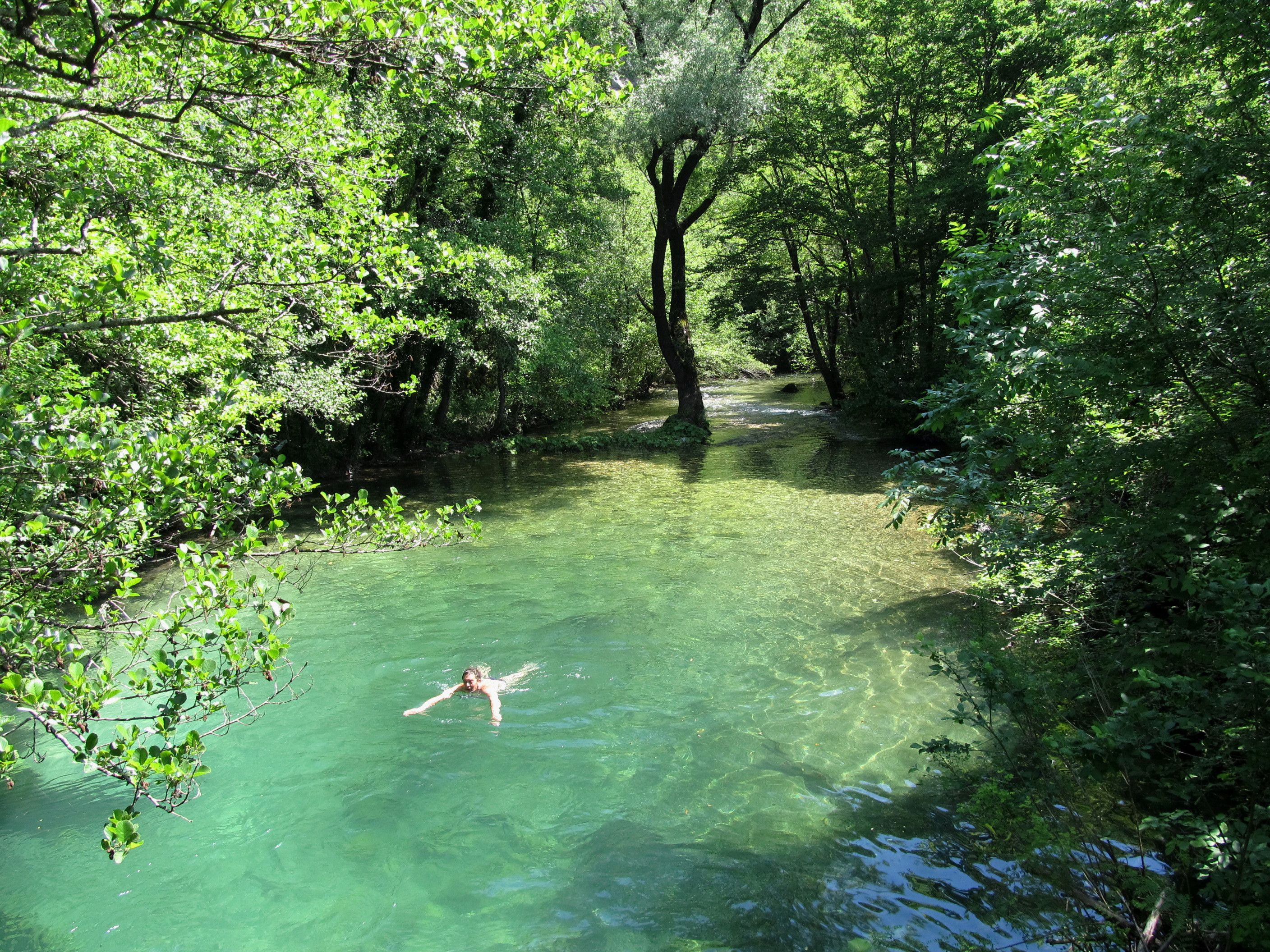 Swimming in secret freshwater pools random pinterest montenegro lakes and park for What is a freshwater swimming pool