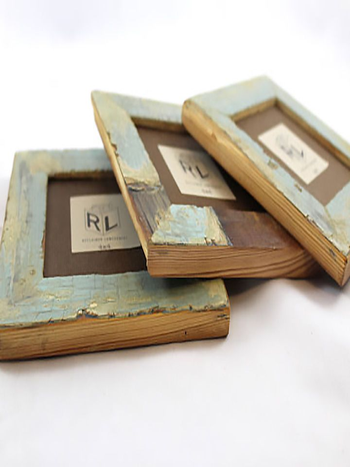 Handcrafted Frames Created With Reclaimed Wood Salvaged From