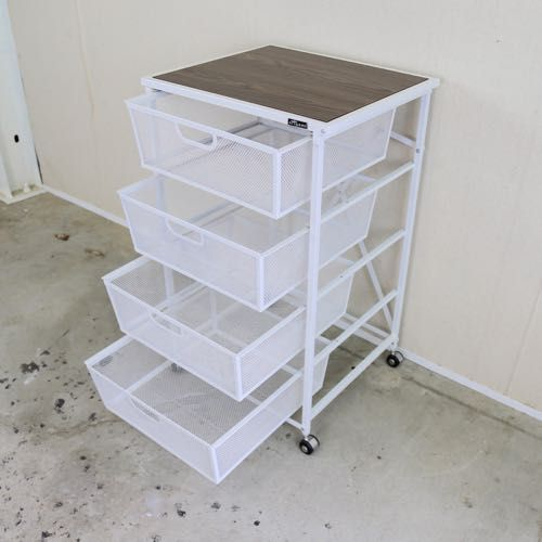 4 Tier Drawer With Wood Shelf Origami Rack Sweet Gadgets