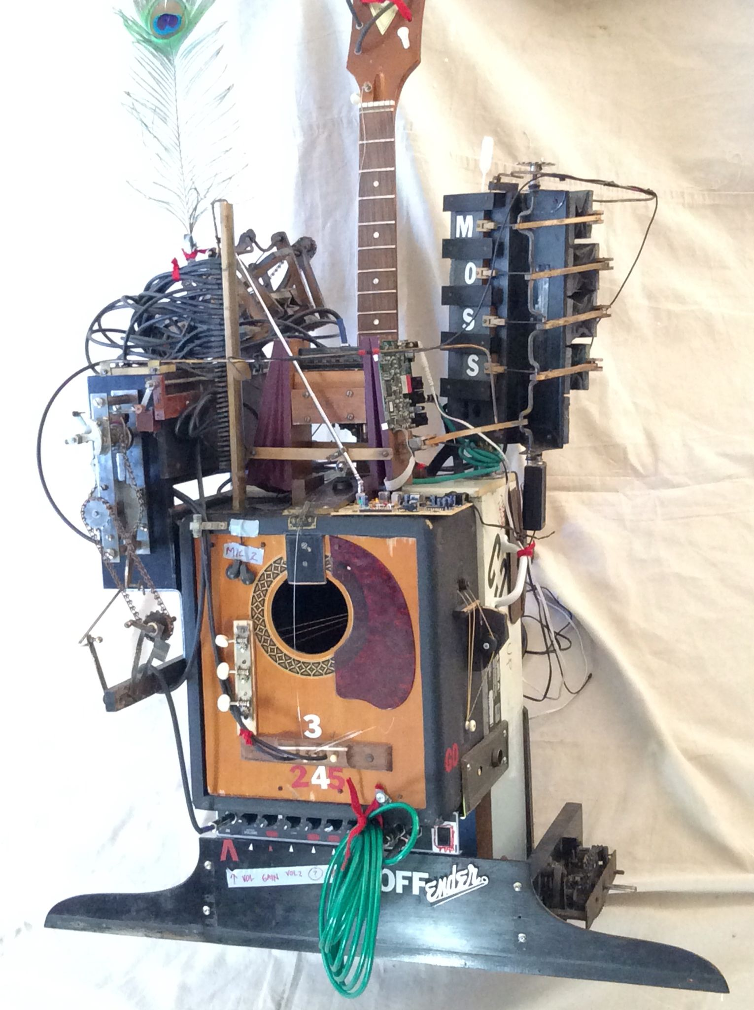 Diy Hybrid Working Steampunk Inspired Crazy Guitar And Amp Combo Wiring On Building Electric The Electronics Musical Instrument With Two Effects Pedals Three Microphonesalso Has