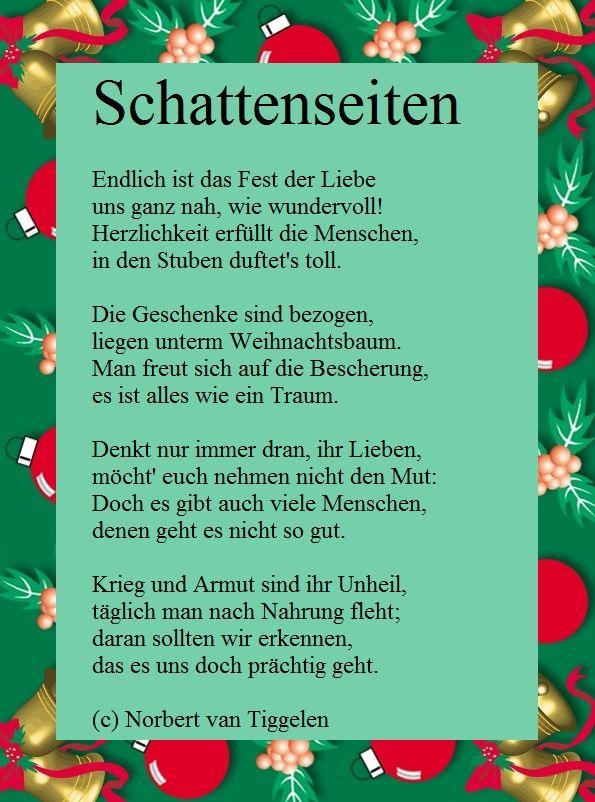 Weihnachten, Advent, Van Tiggelen, Gedichte, Menschen, Leben