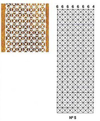 Esquema punto antena se trabaja horizontalmente una - Esquema punto estrella crochet ...