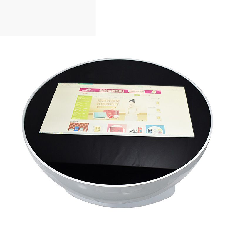 HD Screen, Capacitive Round interactive 27 touch table for advertising play and place order #windowssystem