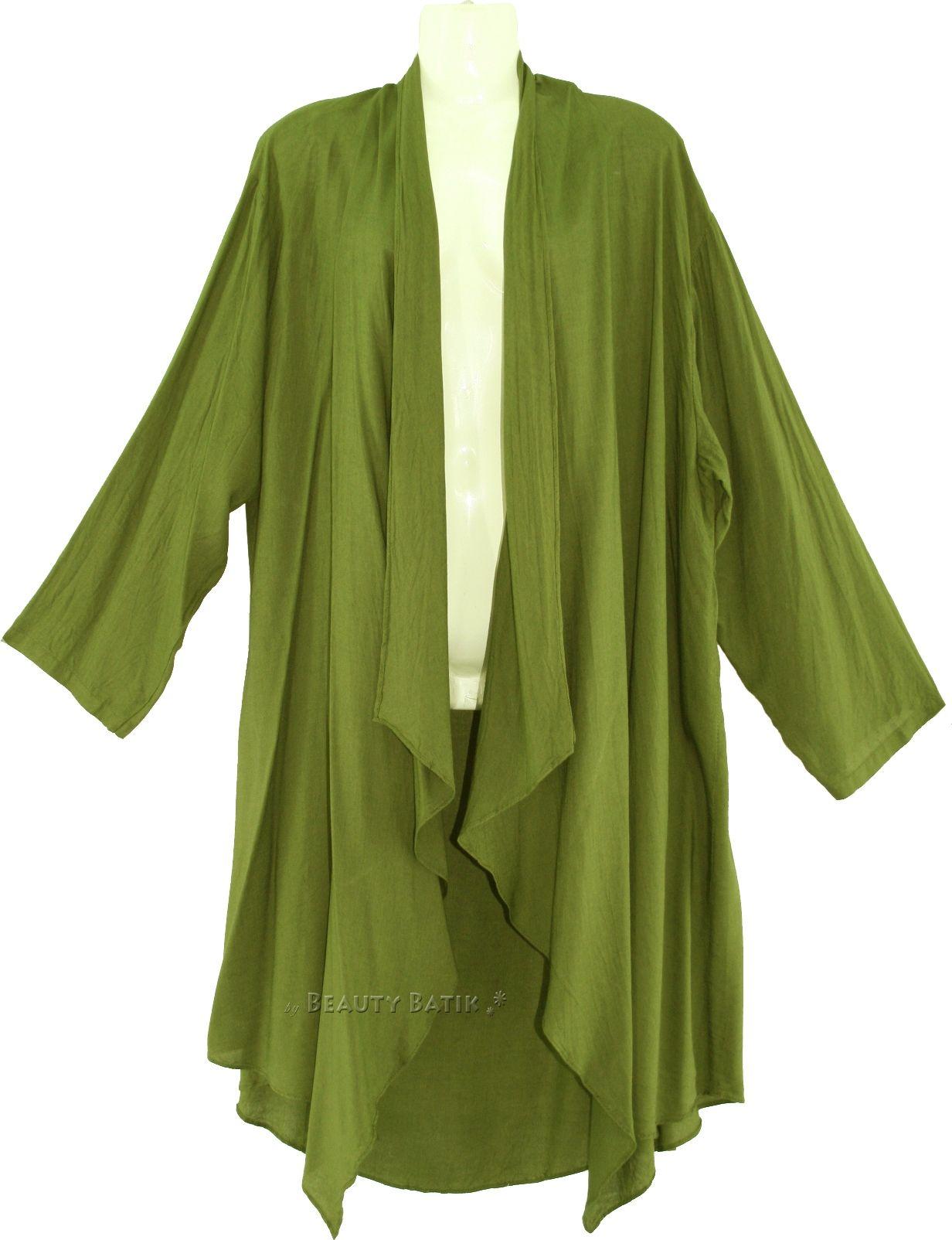 Details about Women Lagenlook Duster Plus Size Long Coverup Jacket ...