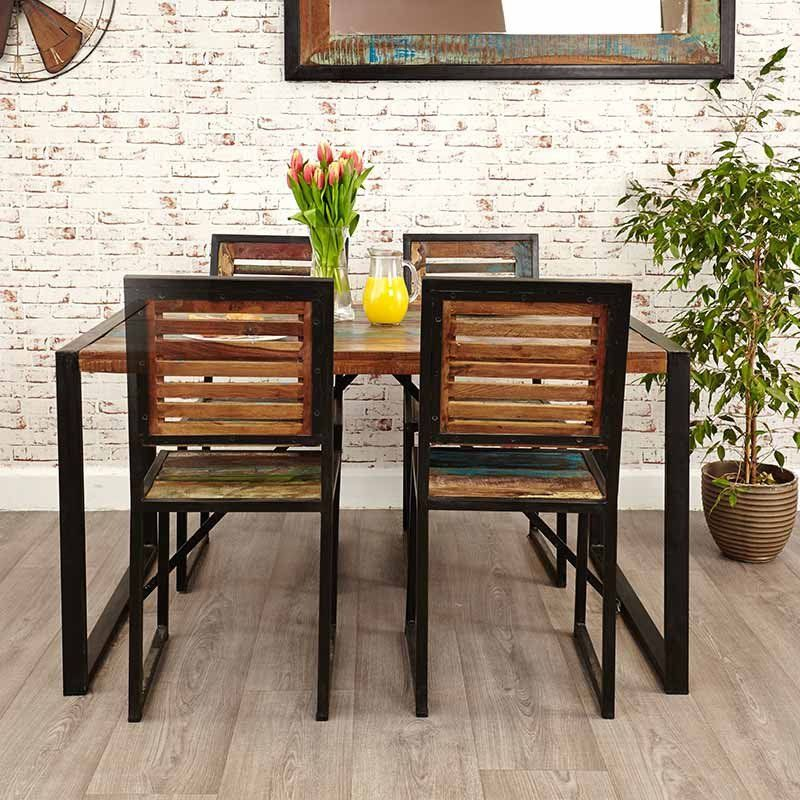 Urban Chic Reclaimed Wood Dining Table Small projects Pinterest