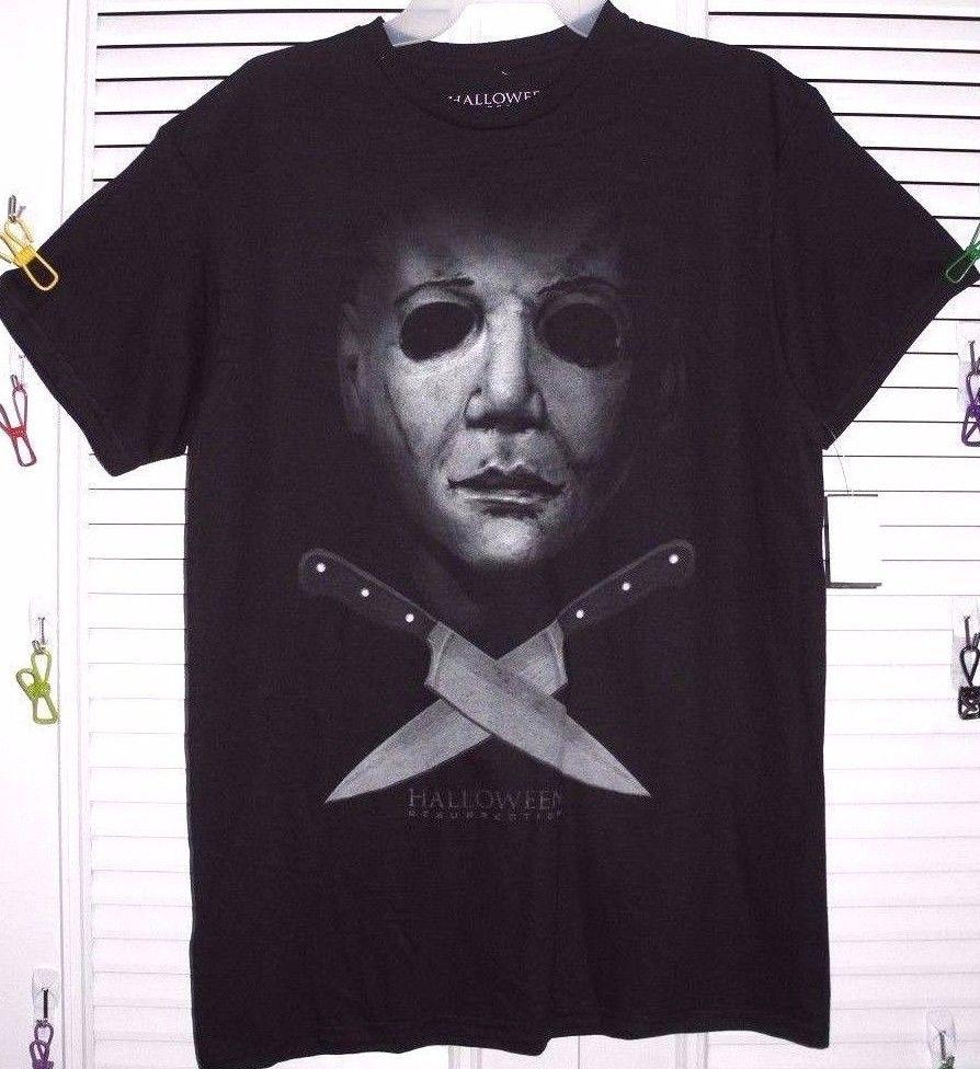 Halloween resurrection mask michael meyers men's tee size s, m, l ...