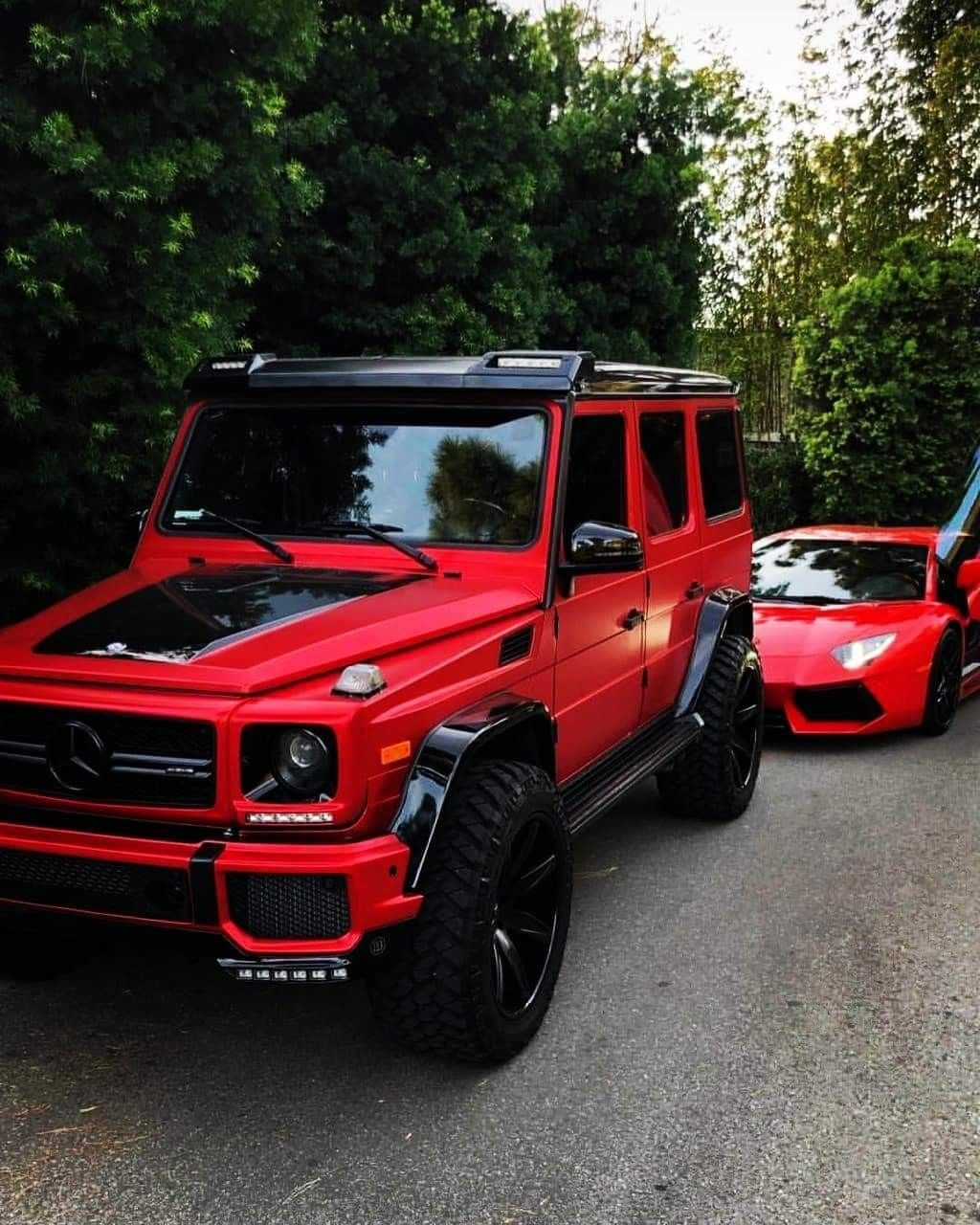 Red And Black Mercedes Benz Cars Mercedes Car Luxury Motor