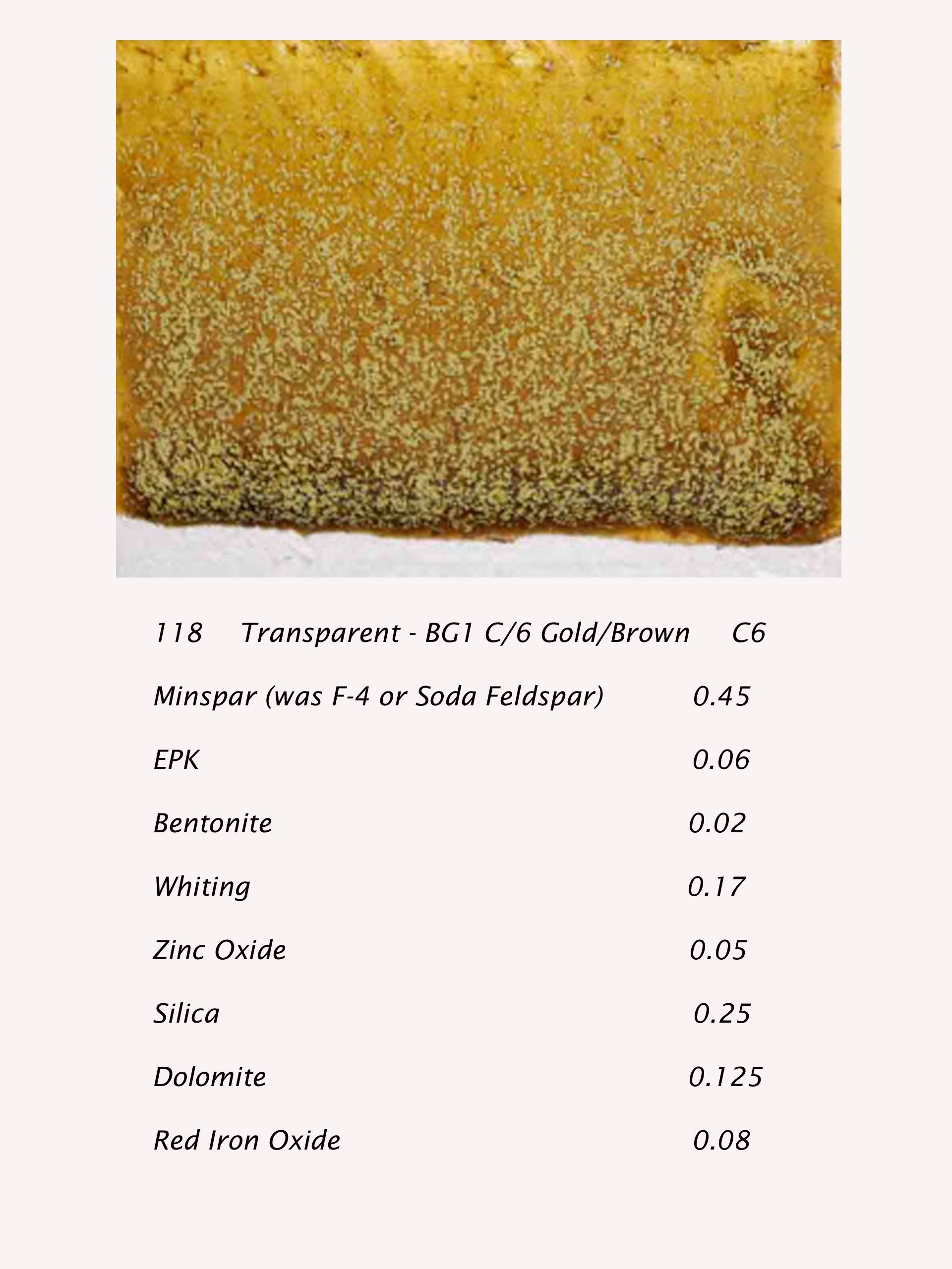 Transparent Gold Brown 6 Recipe Ceramic Glaze Recipes Glazes For Pottery Metallic Glaze