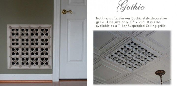 Decorative Wall Registers the finest decorative grills available. historic masters combine