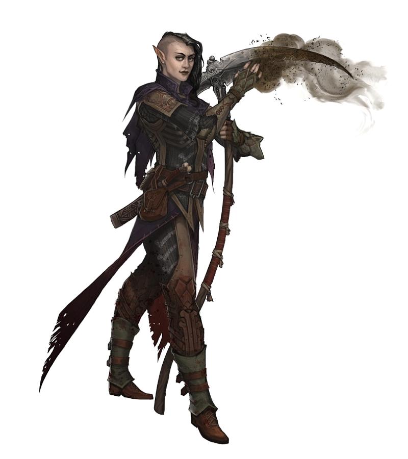 female half elf cleric or warpriest of urgathoan pathfinder pfrpg