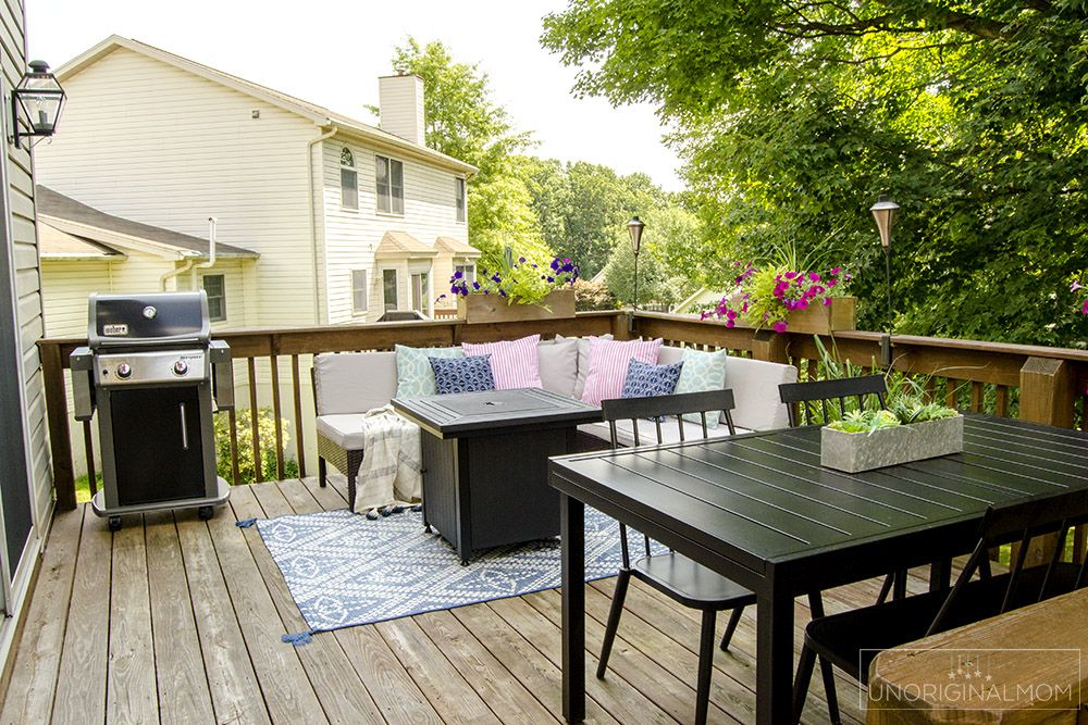 Small Deck Decorating Ideas Our Deck Tour Unoriginal Mom Small Deck Decorating Ideas Deck Decorating Summer Deck Decor