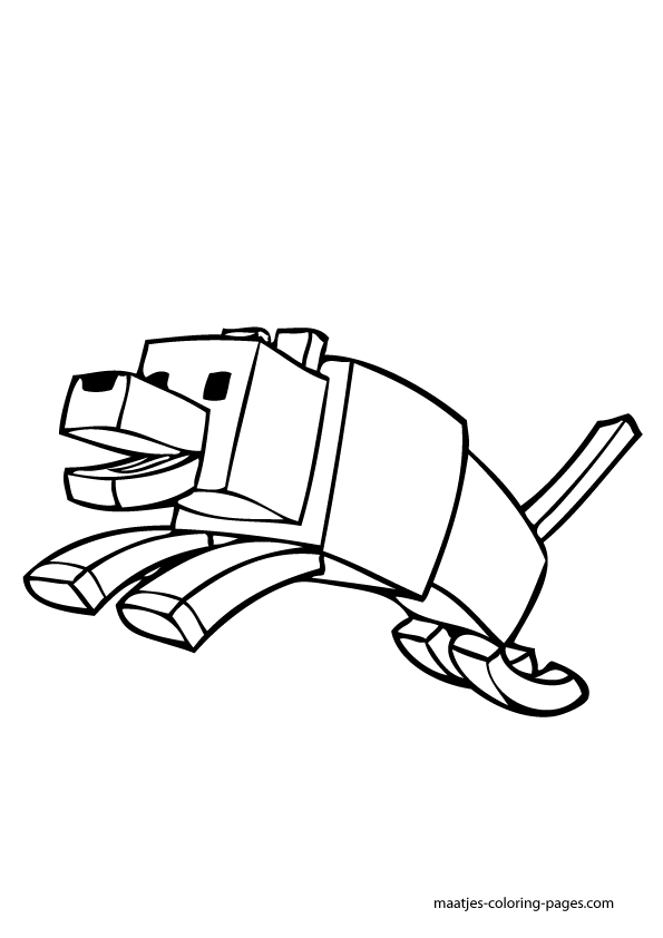 More Minecraft coloring pages on maatjescoloringpagescom