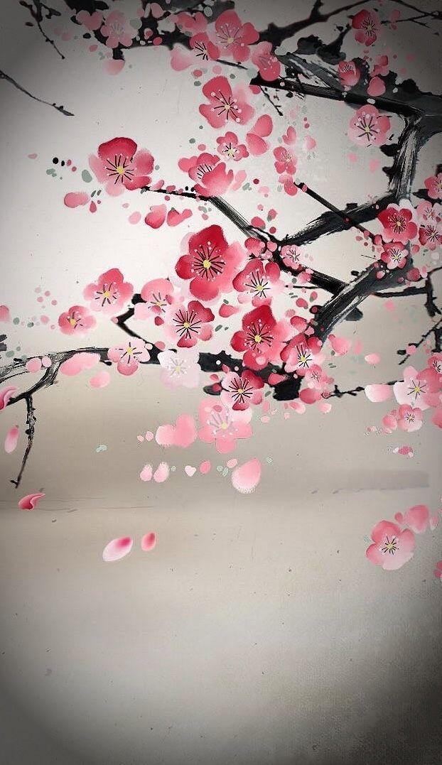Cherryblossom Cherry Blossom Art Cherry Blossom Painting Cherry Blossom Painting Acrylic