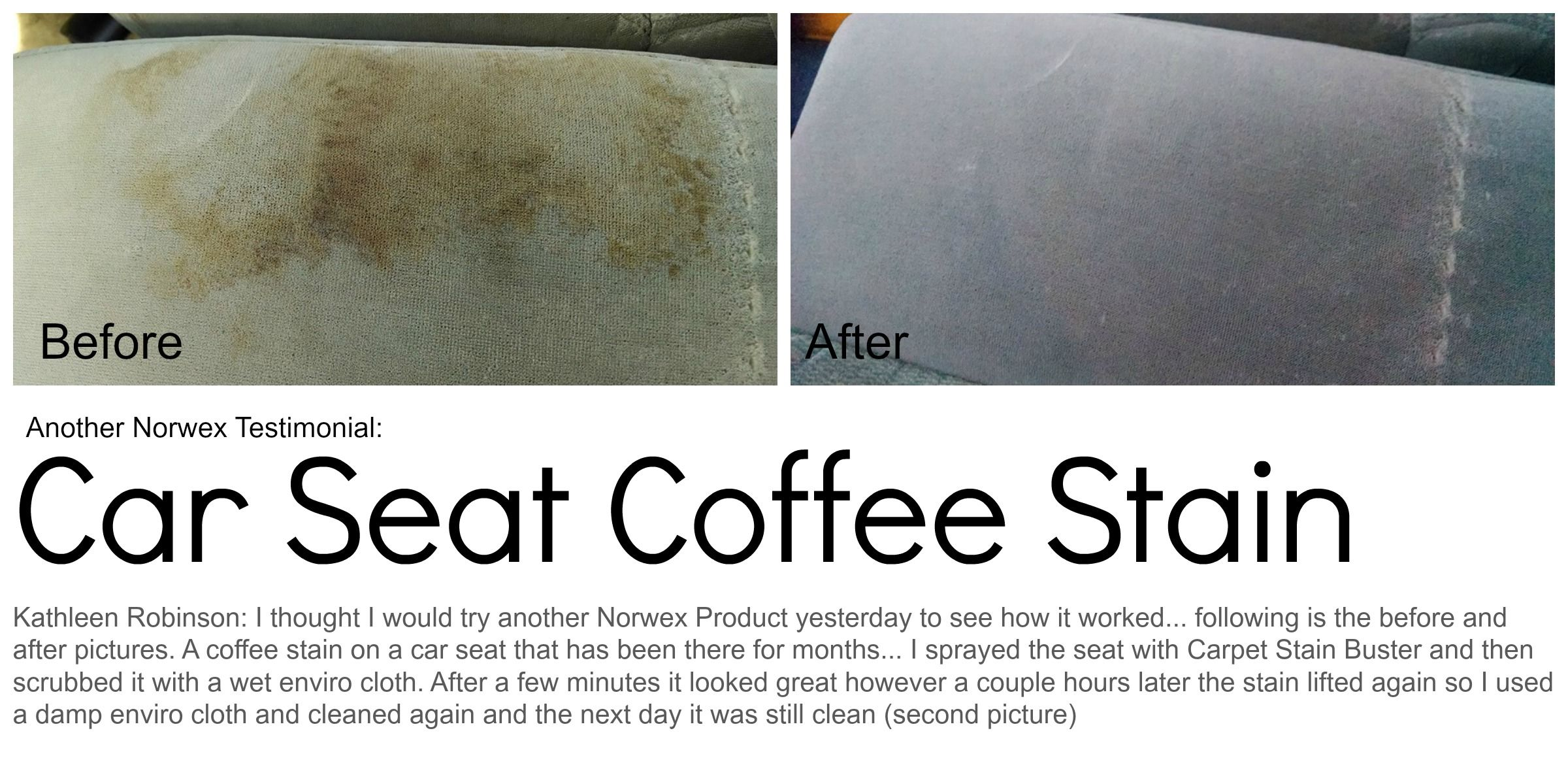 Car seat coffee stain before and after wwwvanessapronge