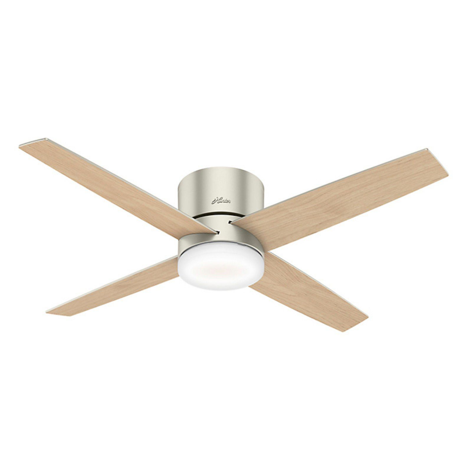 Hunter Advocate 52 In Low Profile Wifi Reversible Blade Indoor Ceiling Fan With Led Light Kit And Remote Ceiling Fan Hugger Ceiling Fan Led