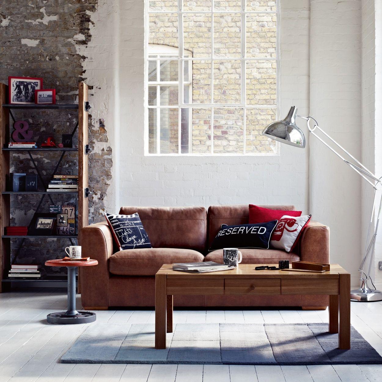 Debenhams Tan leather \'Paris\' large sofa- at Debenhams.com £960 ...