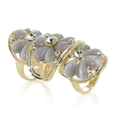 "Hsn Jewelry Boxes Brilliant Roberto Faraone Mennella ""fulvia"" Floral Elongated Ring At Hsn Inspiration"