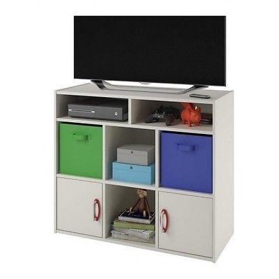 Kids Room Furniture White Dresser Tv Stand Storage Bins Closet Box Toy Organizer