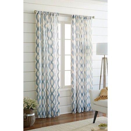 Threshold Semi Sheer Wavy Lines Curtain Panel Panel Curtains Lined Curtains Curtains Living Room