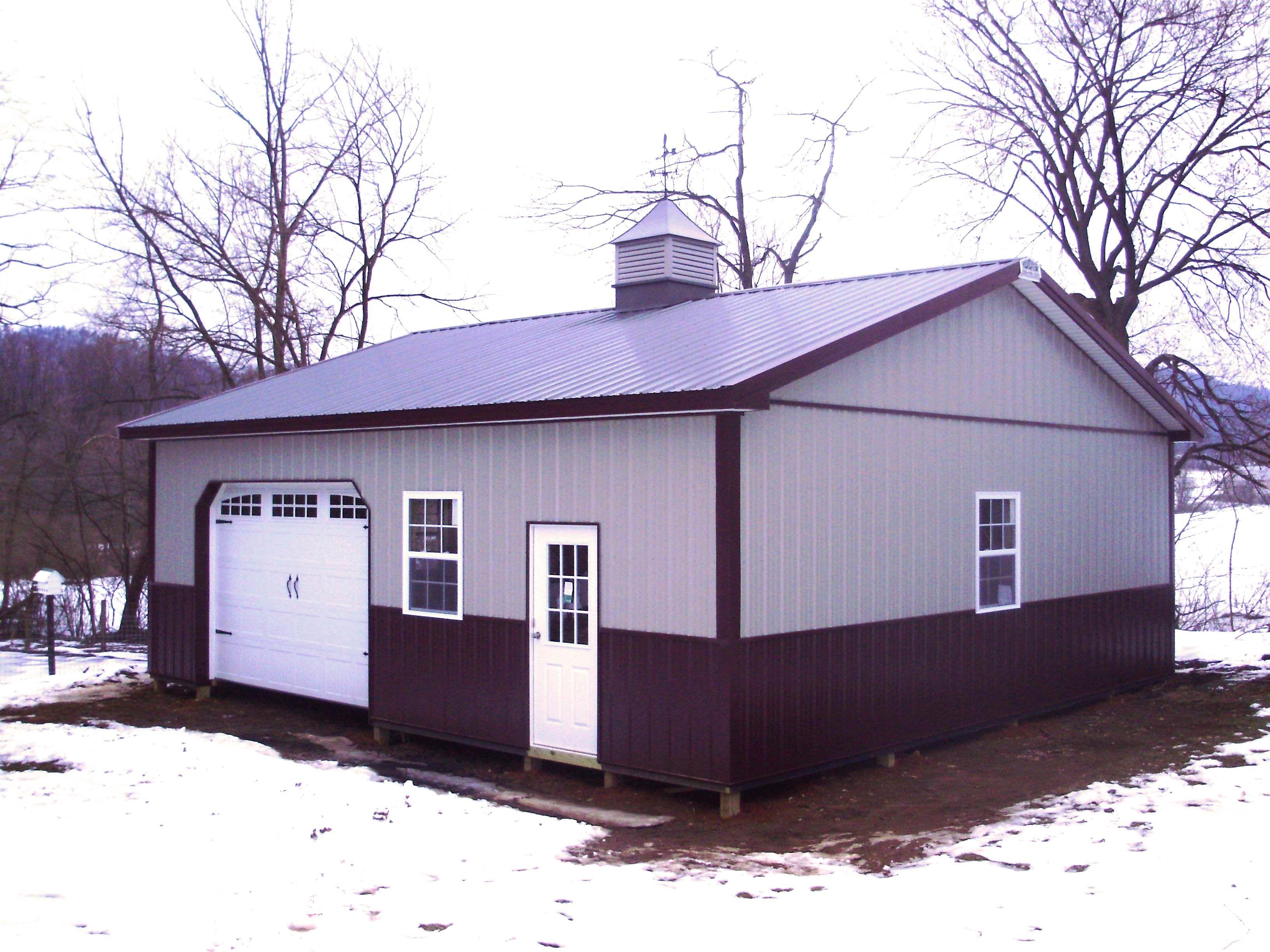 Building dimensions 30 w x 32 l x 10 4 h id 309 for Pole barn dimensions