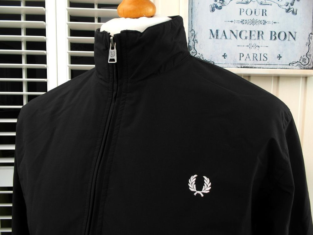 5b84e2f00 Fred Perry Black Brentham Ripstop Jacket - M/L - 42