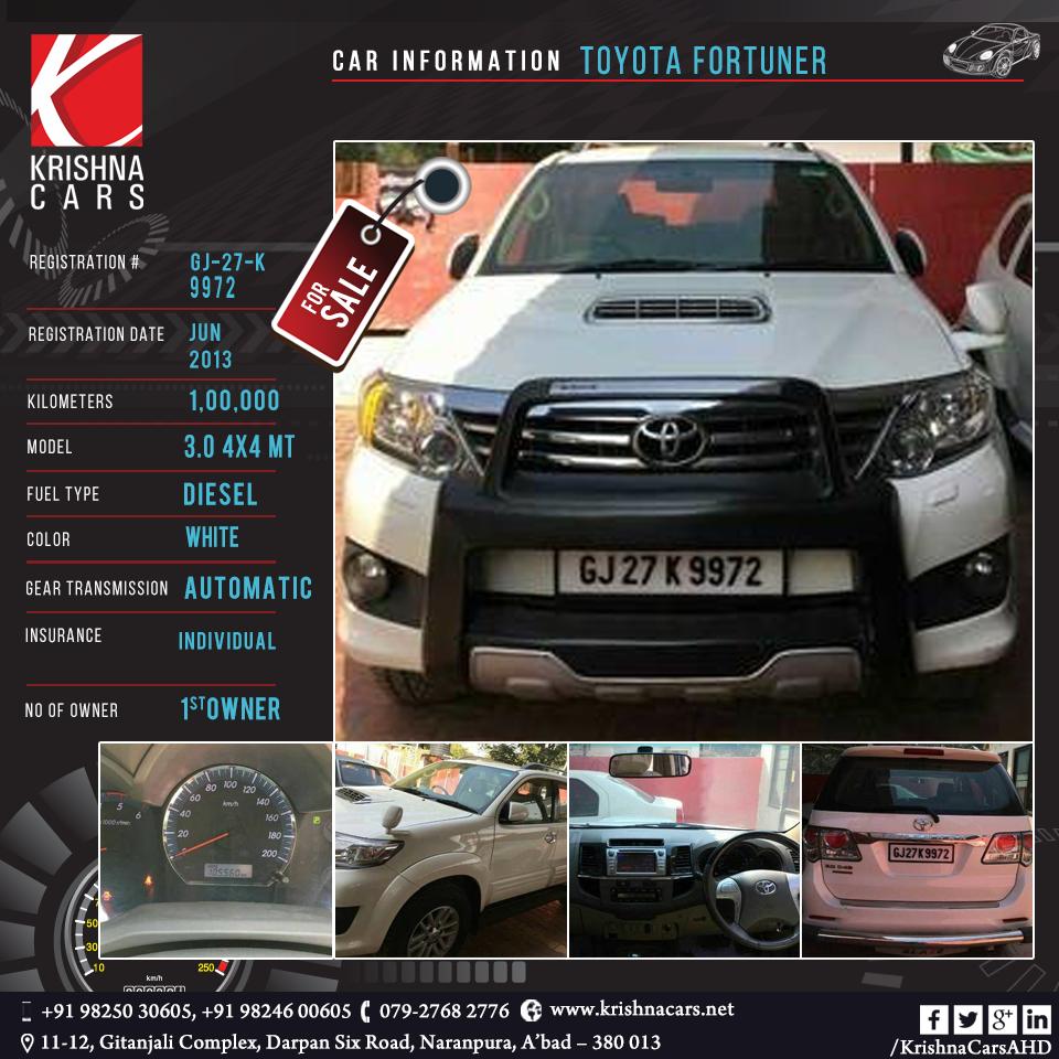 usedCar for sale CAR INFORMATION - Toyota Fortuner REGISTRATION ...
