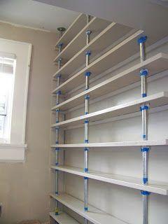 diy pantry shelving