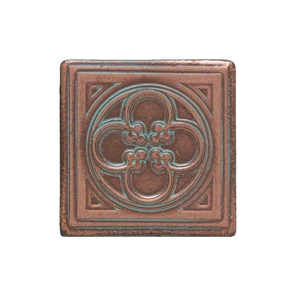 Decorative Accent Tiles For Bathroom Entrancing Daltile Castle Metals 2 Inx 2 Inaged Copper Metal Insert Decorating Design