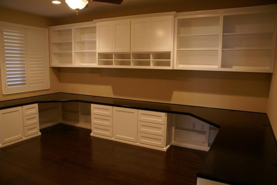 Built in office cabinets with desk built in desks in Built in desk