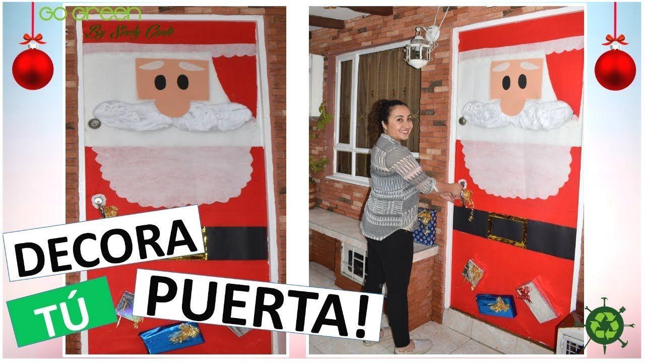 Ideas para navidad como decorar tu puerta para navidad for Como decorar una puerta