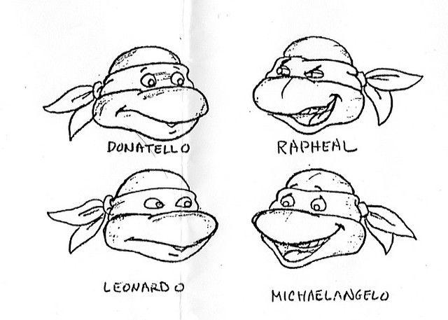 Teenage Mutant Ninja Turtles The Orginal Series Turtle Basic Tmnt Names Coloring Pages