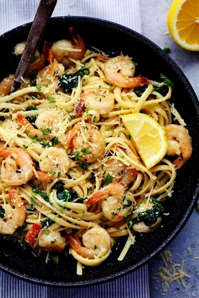 Garlic Parmesan Shrimp Pasta (keto) - pasta, olive oil, butter, garlic, red pepper flakes, shrimp,