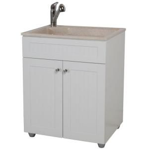 Colorpoint Premium Laundry Sink And Cabinet Bcp2732com Wh At The Home Depot Mobile