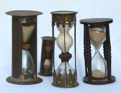 antique hour glasses