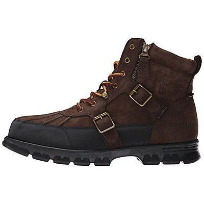 Polo Demond Mens 812570264-003 Dark Brown Leather Buck Duck Toe Boots Size 9.5