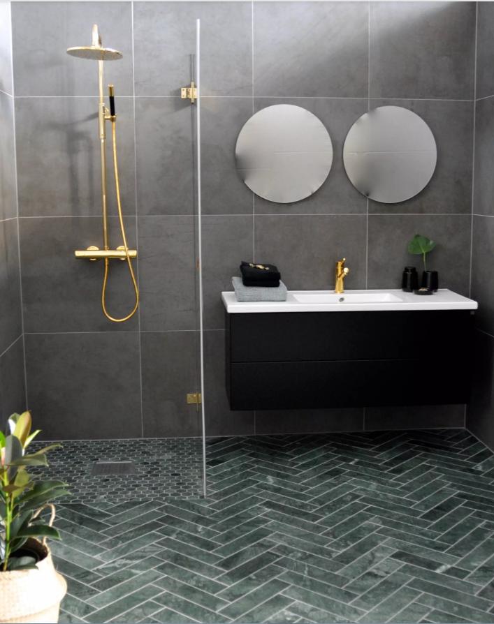 a101c756 Baderom- og kjøkkentrender 2019   Midcentury Modern Bathroom ...