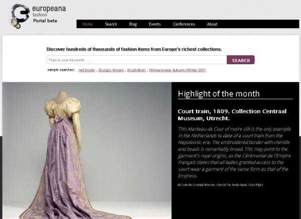 Europeana Fashion portal
