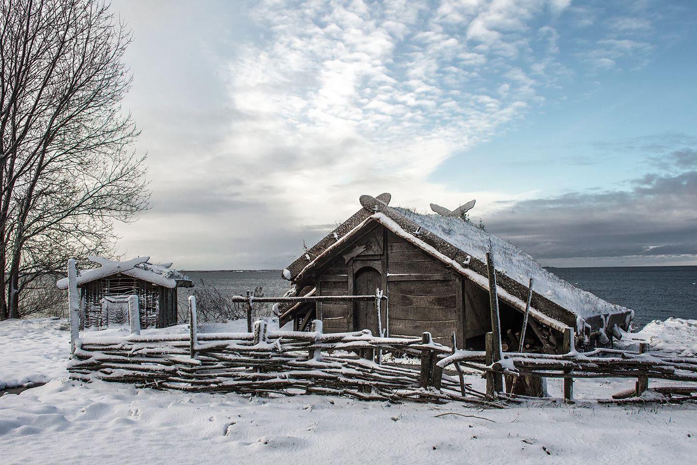 Foteviken Winter - Folk Museum Sweden Scandinavian
