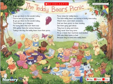 Teddy bear picnic poem for an indoor picnic clue | Cat face paint ...