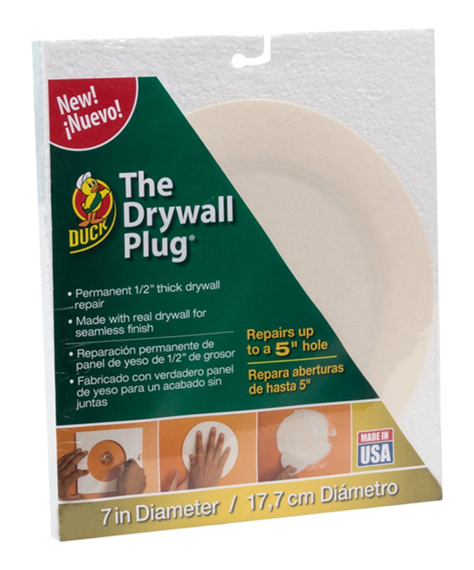 Take A Look At This Duck Brand The Drywall Plug Today Drywall Repair Drywall Repair