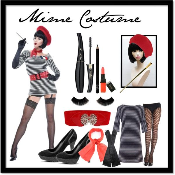 Mime costume for the ladies  by kayybee on Polyvore  sc 1 st  Pinterest & Mime costume for the ladies | Mime costume Costumes and Halloween ...