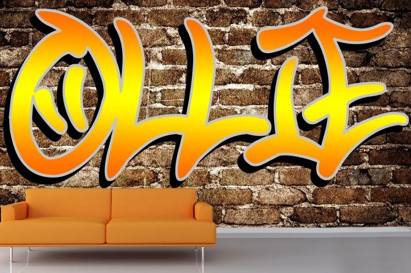 Custom Name Graffiti Wallpaper Mural | MuralsWallpaper.co.uk Part 72