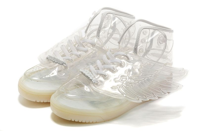 2014 Adidas X Jeremy Scott Wings Clear Shoes White Outlet