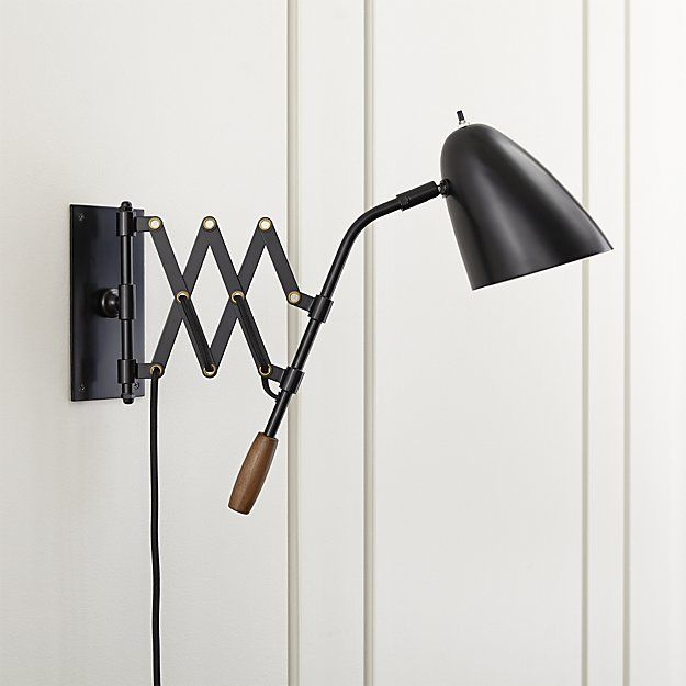 Morgan black sconce crate and barrel also comes in off white