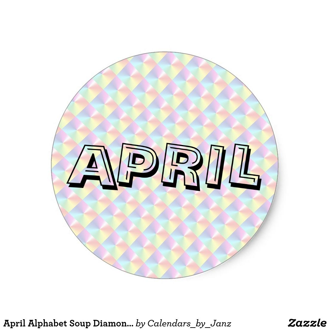 April Alphabet Soup Diamonds Sticker By Janz
