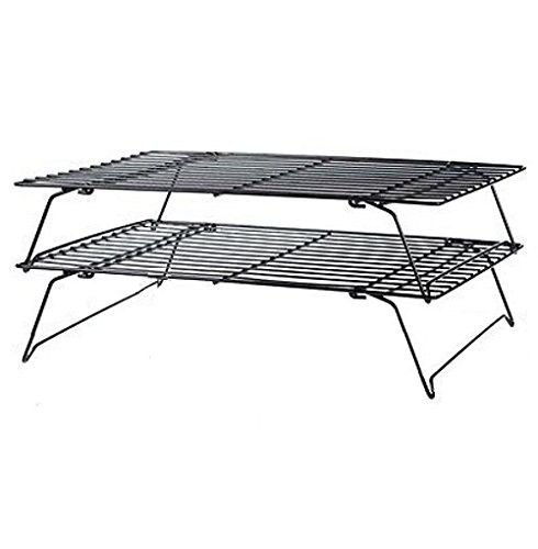 Kabalo Stainless Steel 2 Tier Baking Wire Cake Cooling Rack For Cupcakes Biscuits Pastries Cooling Racks Steel Stainless Steel